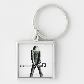 Riddler Silver-Colored Square Key Ring