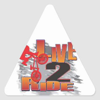 Ride 2 Live BMX Biker Triangle Sticker