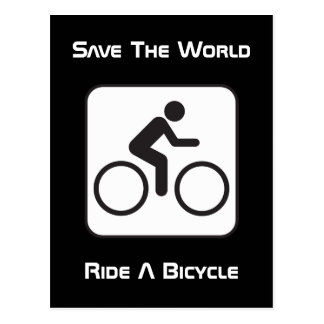 Ride A Bicycle Negative Postcard