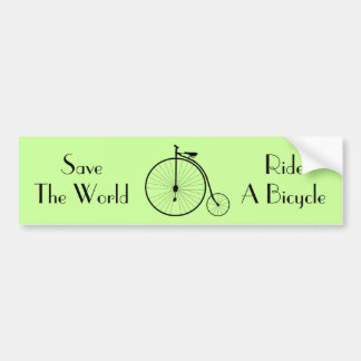 Ride A Bicycle Vintage Bumper Sticker Banner