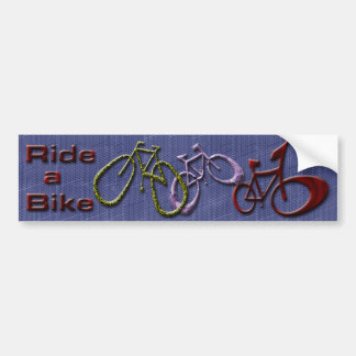 Ride a Bike Bumper Sticker