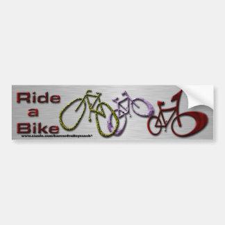 Ride a Bike Car Bumper Sticker