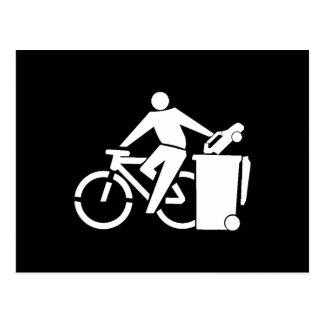 Ride A Bike Not A Car Postcard