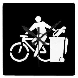 Ride A Bike Not A Car Square Wall Clock