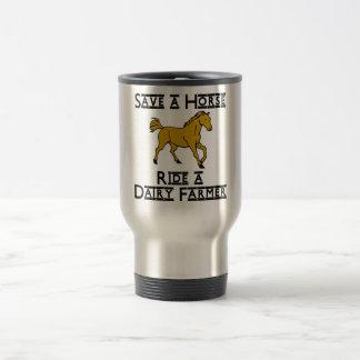 ride a dairy farmer travel mug