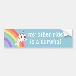 Ride a Narwhal Bumper Sticker