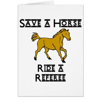 ride a referee card