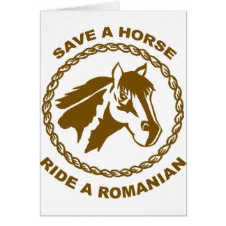 Ride A Romanian Card