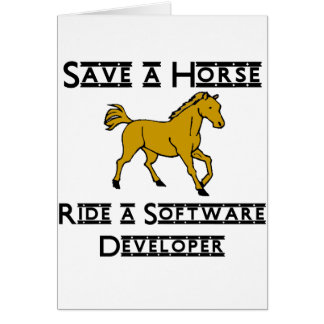 ride a software developer note card
