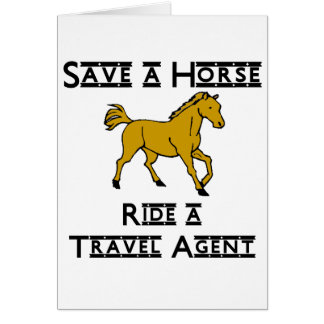 ride a travel agent note card