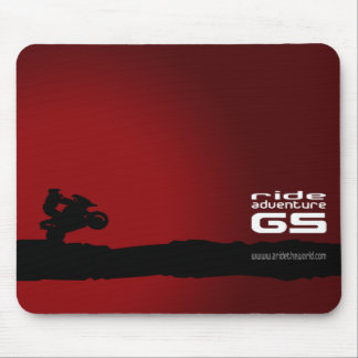 Ride-Adventure-GS black on red Mouse Pad