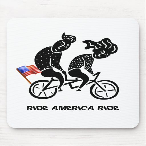 Ride America Ride Mousepads