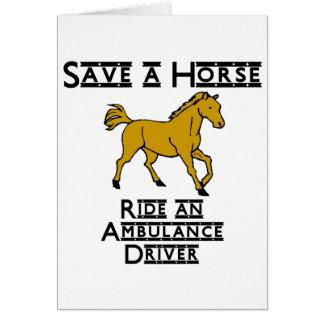 ride an ambulance driver card