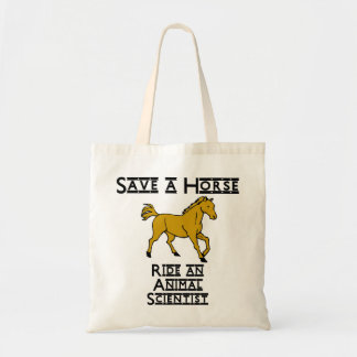 ride an animal scientist budget tote bag