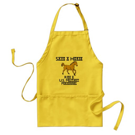ride an us military personnel aprons