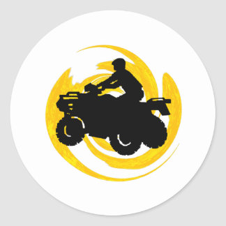 Ride and Grind Classic Round Sticker