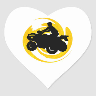 Ride and Grind Heart Sticker