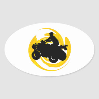 Ride and Grind Oval Sticker
