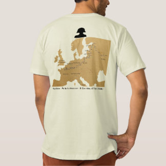Ride and Seek Napoleon-Paris to Moscow map t-shirt