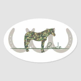 Ride Camo Oval Sticker