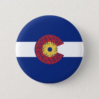 Ride Colorado (Bicycle Cassette) 6 Cm Round Badge
