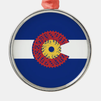 Ride Colorado (Bicycle Cassette) Metal Ornament