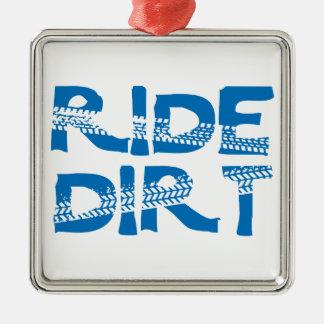 Ride Dirt Metal Ornament