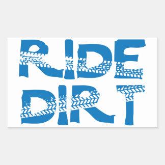 Ride Dirt Rectangular Sticker