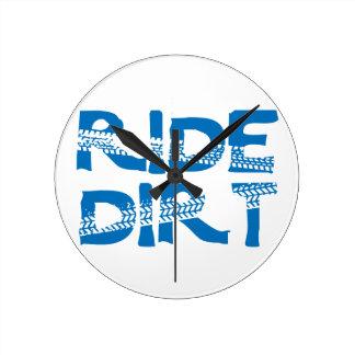 Ride Dirt Round Clock