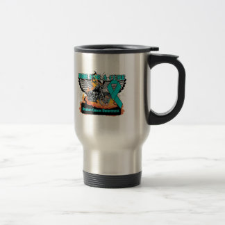 Ride For a Cure - Ovarian Cancer Stainless Steel Travel Mug