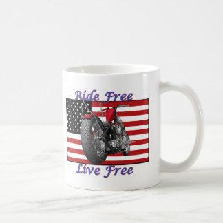Ride Free Live Free Coffee Mug