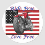Ride Free Live Free Stickers
