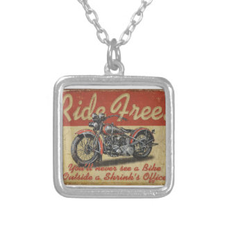 Ride Free Silver Plated Necklace
