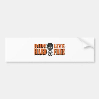 Ride Hard Live Free Bumper Sticker