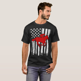 RIDE HORSE FLAG AMERICAN T-Shirt