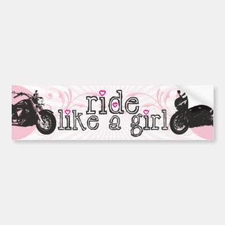 Ride Like A Girl Bumper Sticker Car Bumper Sticker