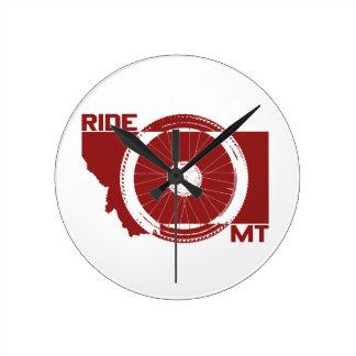 Ride Montana Round Clock