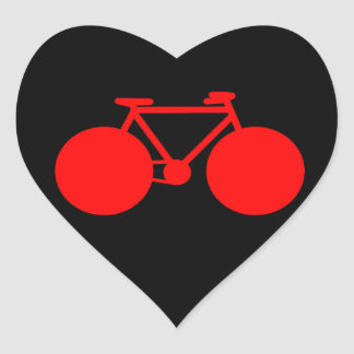 ride on . bicycle green attitude heart sticker