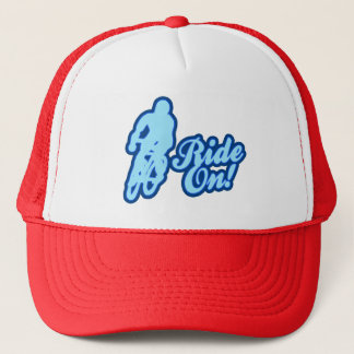 Ride On! (blue) Trucker Hat