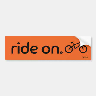 Ride On™ BMX Bumper Sticker