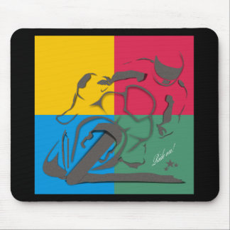 Ride on mouse pad
