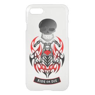 Ride or Die Tribal Motorcycle Biker Patch iPhone 7 Case