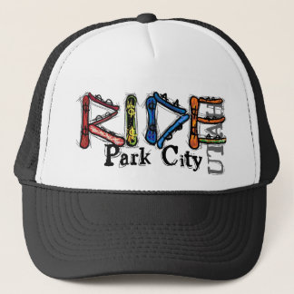 Ride Park City Utah snowboard hat