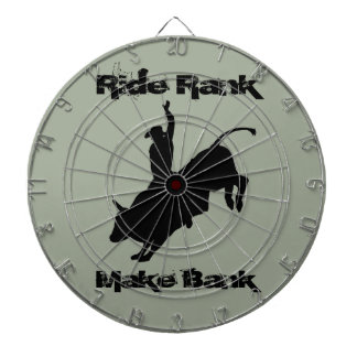 Ride Rank Bull Riding Rodeo Cowboy Up Dartboard