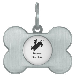 Ride Rank Bull Riding Rodeo Cowboy Up Pet ID Tag