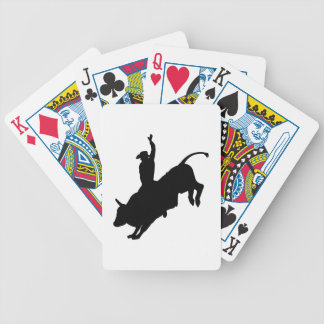 Ride Rank Bull Riding Rodeo Cowboy Up Poker Deck