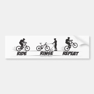 Ride Rinse Repeat Bumper Sticker