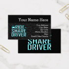 Ride Share Driving Uber Driver Rideshare Business Card