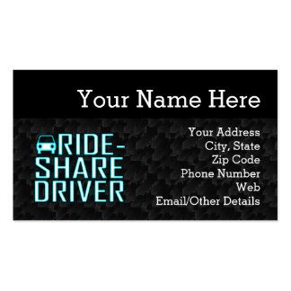 Ride Share Driving Uber Driver Rideshare Pack Of Standard Business Cards