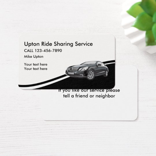 Ride Sharing Taxi Service Business Card